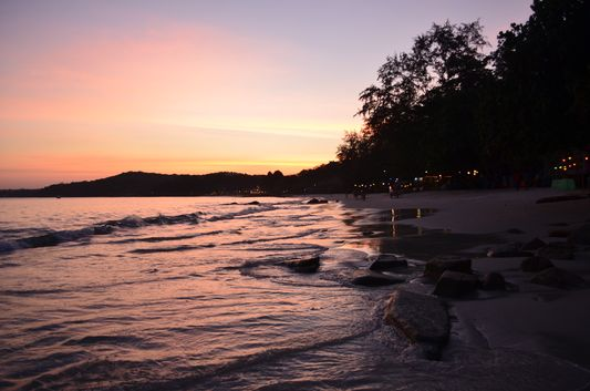 sunset on Koh Samet island
