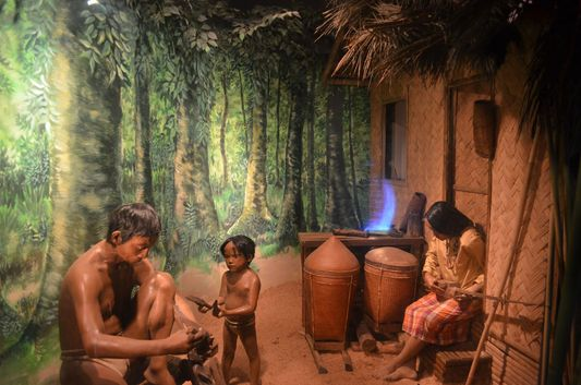 the Tagbanua tribe in Palawan Heritage Museum in Puerto Princesa