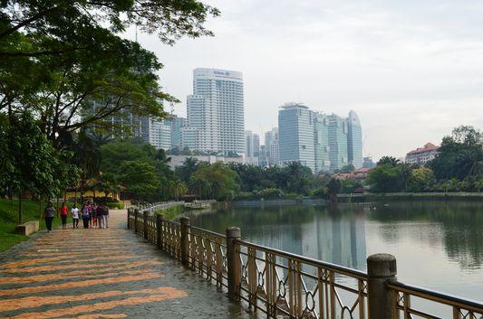 Perdana Botanical Lake Gardens with Perdana Lake in Kuala Lumpur