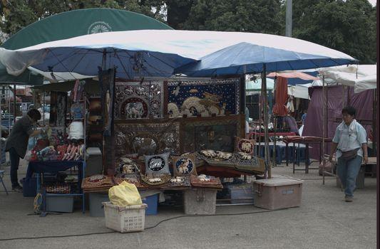 Sunday walking street market in Chiang Mai