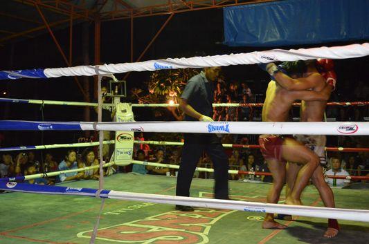 a Thai boxing match on Koh Phangan
