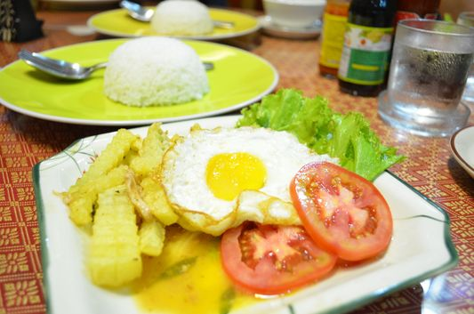 a meal in Mandalay Inn hotel
