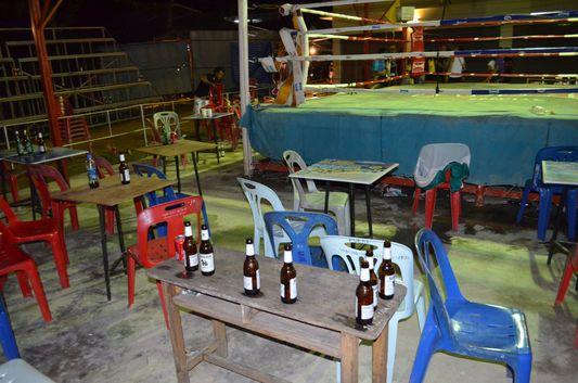 after a Thai boxing match on Koh Phangan