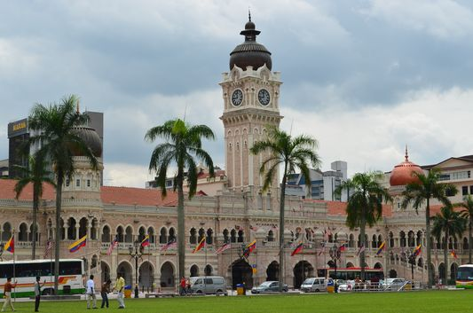 impressive Sultan Abdul Saman Building in Kuala Lumpur