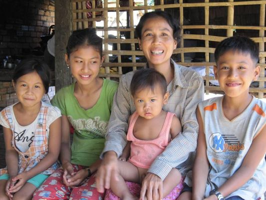 one of the happy families that TSCCP sponsors