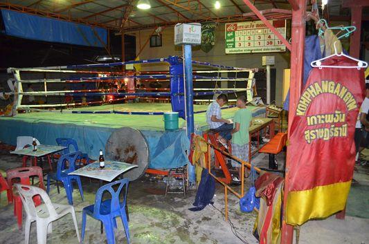 punching bag at the ring on Koh Phangan