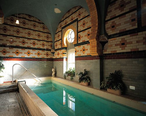 relaxing Turkish baths