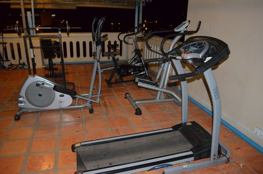 roof top gym in Mandalay Inn in Siem Reap