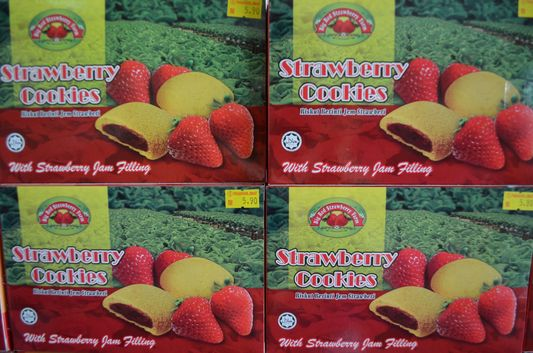 strawberry cookies in Strawberry Farm in Cameron Highlands