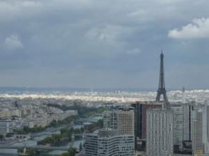 views of Eiffel Tower from the Air Balloon in Paris