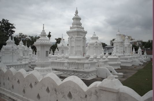 white Wat Suandok temple in Chiang Mai