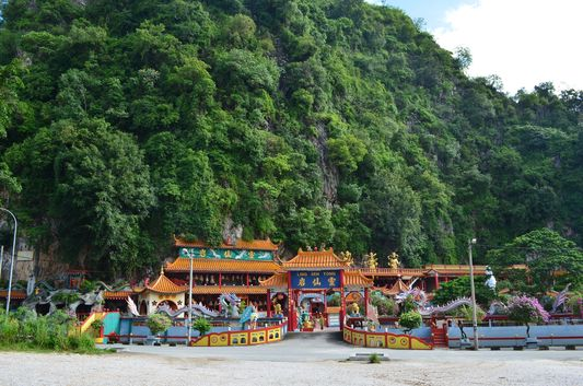 Chinese Ling Seng Tong Temple in a cave in Ipoh