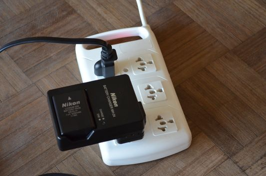 European plug adapters in Hi Patagonia Hostel