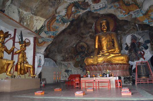 a Buddha in Perak Tok Temple in Ipoh