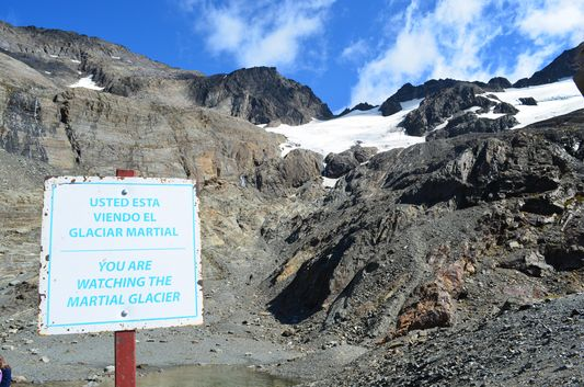 at the viewpoint of Glacier Martial