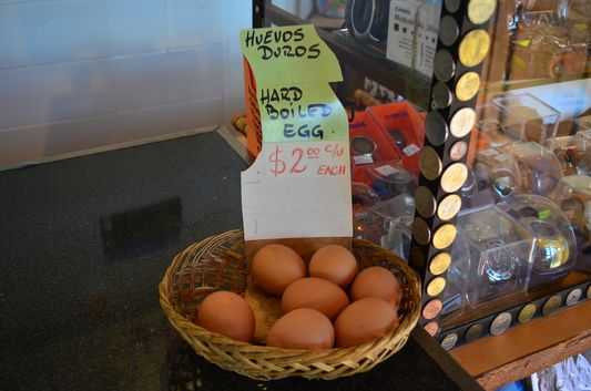 boiled eggs sold in a shop