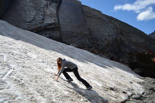 climbing the Glacier Martial woo hoo