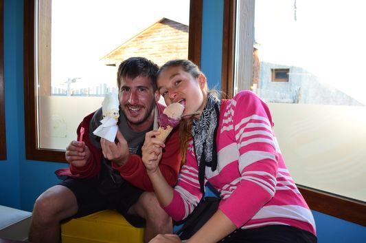 in Domo Blanco ice cream with Pablo