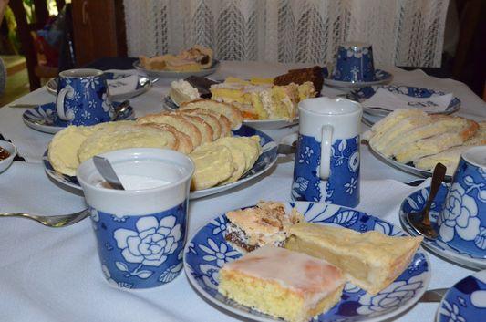 in Ty Gwyn tea house in Gaiman