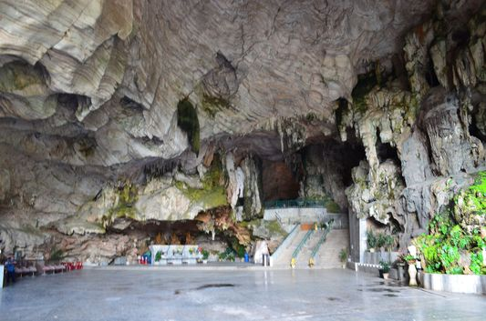 inside Kek Lok Tong Temple cave  in Ipoh