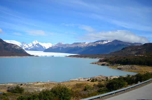 my first view and photo of Perito Moreno glacier and Lago Argentino