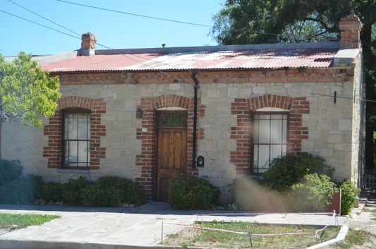 one of the traditional houses in Gaiman in Chubut province