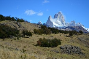 smoky Fitz Roy with clouds