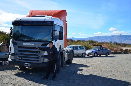 the truck we hitchhiked from El Calafate to Perito Moreno