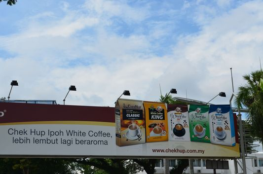 traditional white coffee in Ipoh
