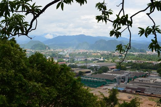 view of Ipoh town  from Perak Tong Temple