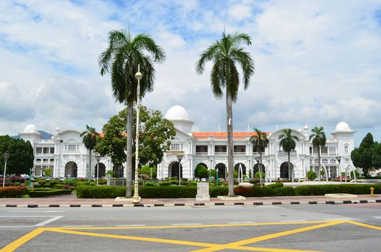 white Railway Station in Ipoh
