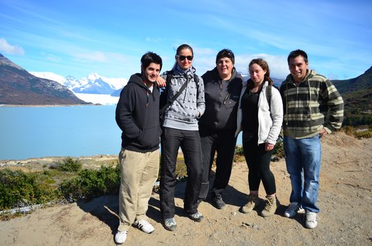with the guys who took us to Perito Moreno