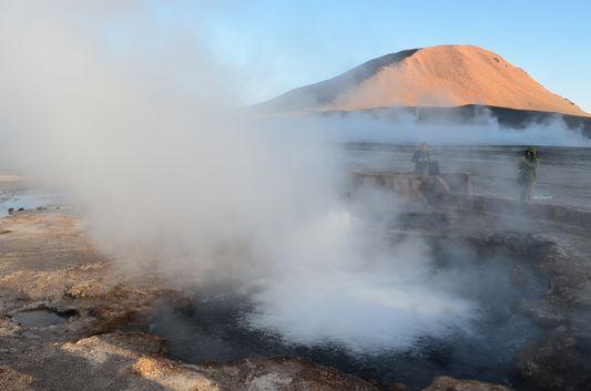 1 of 80 fumarolas in The Tato geysers