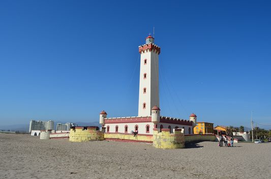 Faro Monumental at the beach of La Serena in Chile