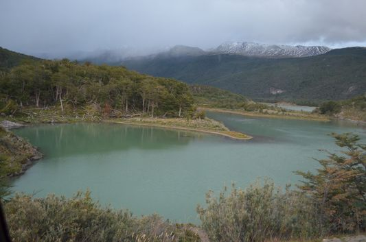 Laguna Verde in Tierra del Fuego National Park