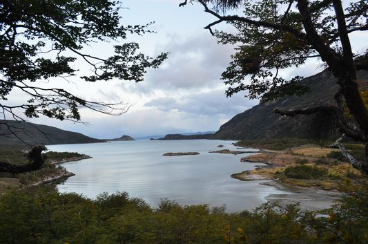 Lapataia Bay from a viewpoint in Tierra del Fuego