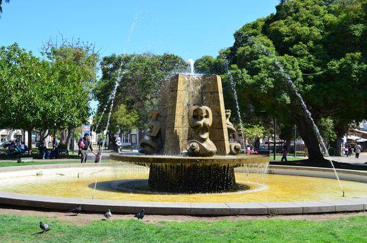 Plaza de Armas in La Serena town in Chile