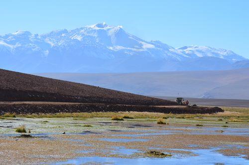 Putana river and snowed Putana volcano