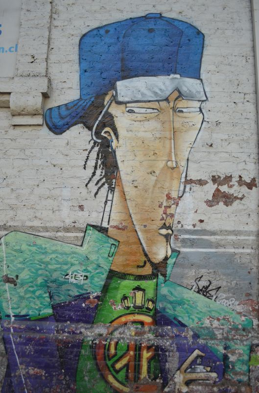 a graffiti in Bellaviista in Santiago