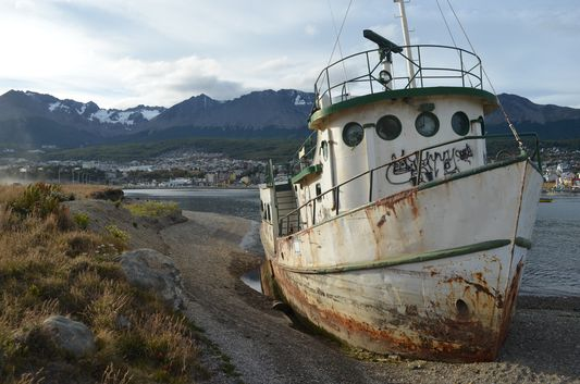 a wreck in Ushuaia port