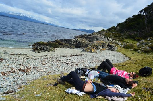 after the picnic at Playa Larga in Ushuaia