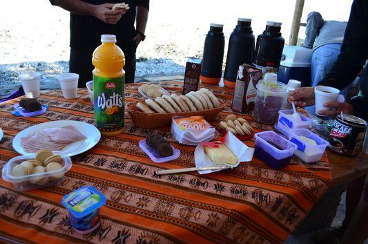 breakfast at Laguna Chaxa
