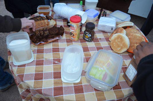 breakfast at The Tatio geysers in Atacama