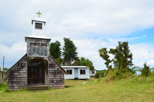 church in Chequian village on Quinchao island