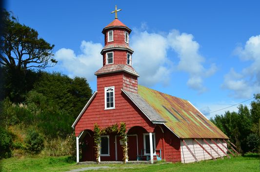 church in Huillinco on Chiloe