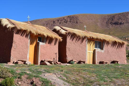 clay houses in pueblo Machuca