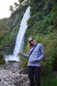 crazy sexy fun traveler at Tocoihue cascadas