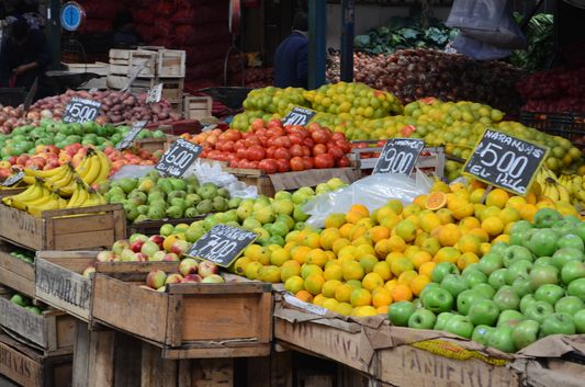 fruit in La Vega Central market in Santiago de Chile
