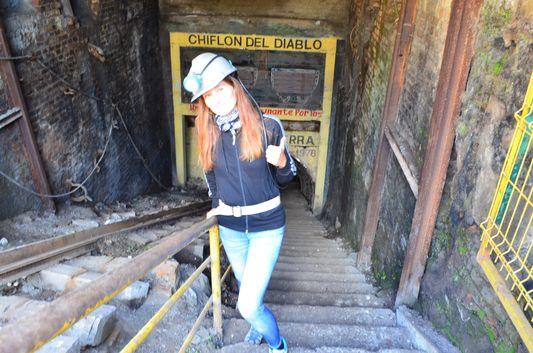 getting out of Chiflon del Diablo mine