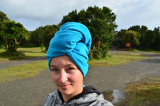 got all soaked in Chiloe National Park